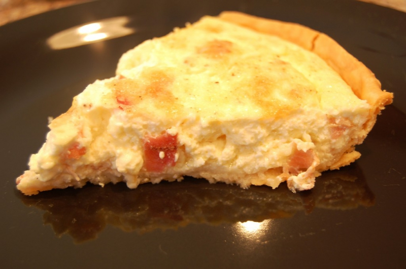 Bacon and swiss quiche photo 1
