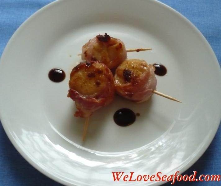 Bacon wrapped scallops photo 2