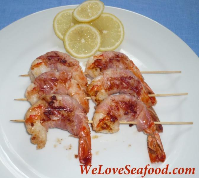 Bacon wrapped shrimp photo 1