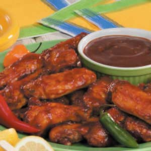 Barbecued chicken wings photo 3