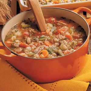Beef and barley soup photo 2
