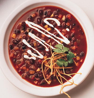 Black bean and chicken soup photo 1