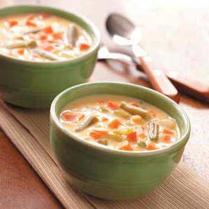 Cheese vegetable soup photo 1