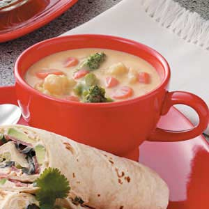 Cheese vegetable soup photo 2