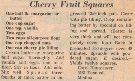 Cherry squares photo 1