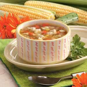 Chicken corn soup photo 3