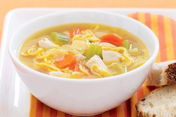 Chicken noodle and vegetable soup photo 3