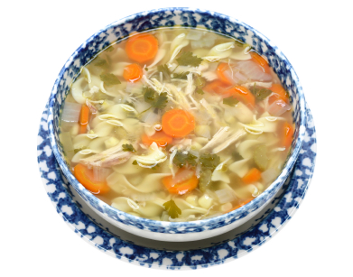 Chicken noodle and vegetable soup photo 2