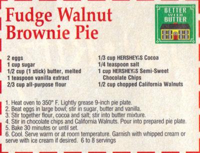 Chocolate brownie pie photo 3