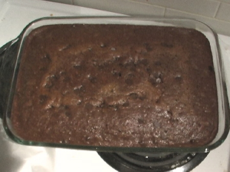 Chocolate deluxe zucchini cake photo 3