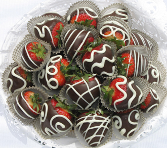 Chocolate dipped strawberries photo 2