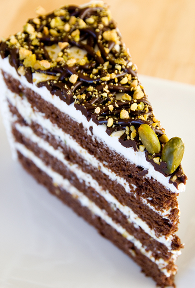 Chocolate pistachio cake photo 3