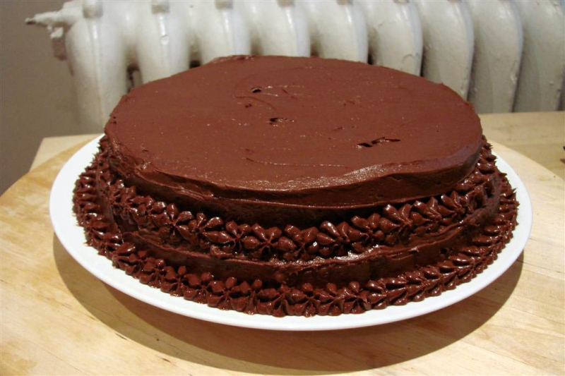 Chocolate sour cream cake photo 9