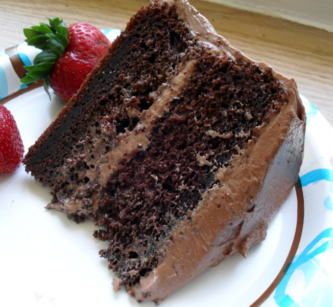 Chocolate sour cream cake photo 6