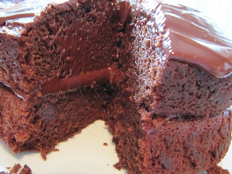 Chocolate sour cream cake photo 3