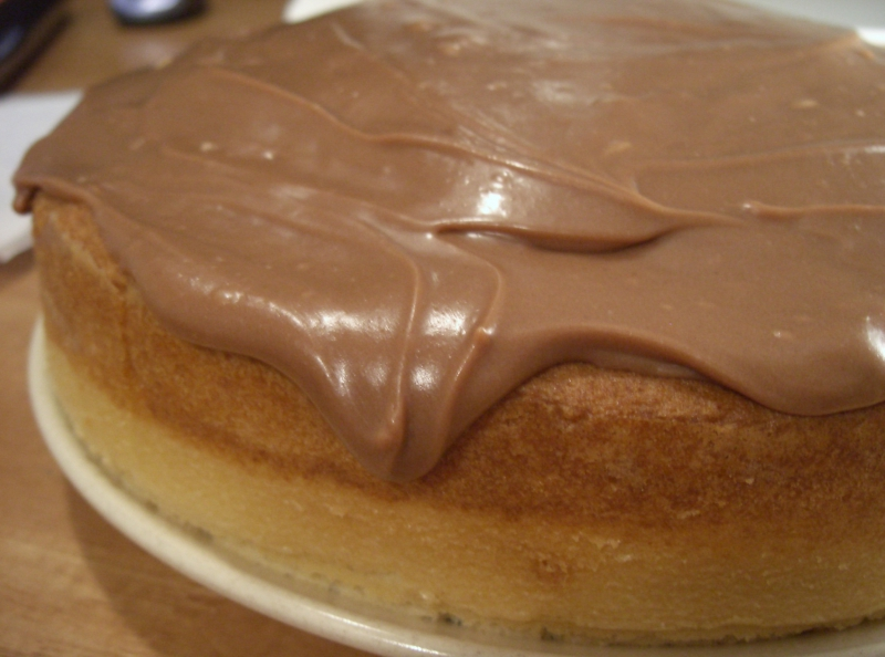 Chocolate sour cream frosting photo 2