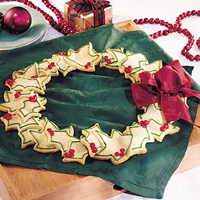 Christmas wreath cookies photo 1