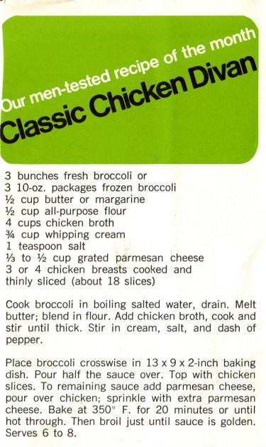 Classic chicken divan photo 1