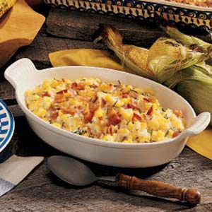 Corn and bacon casserole photo 1