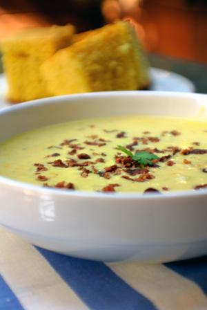 Corn chowder soup photo 1