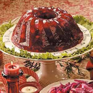 Cranberry gelatin mold photo 2