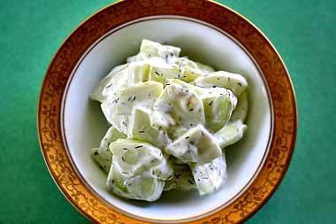 Cucumber yogurt salad photo 2