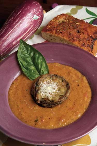 Eggplant parmesan soup photo 2