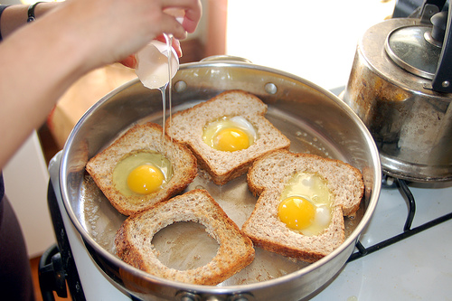 Eggs in a basket photo 1