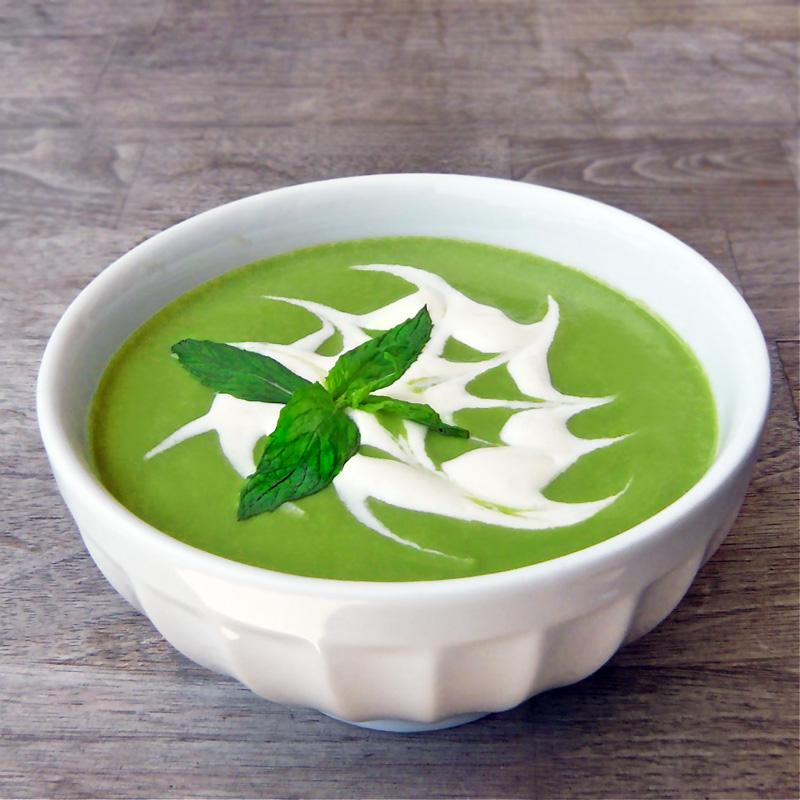Fresh pea soup photo 3