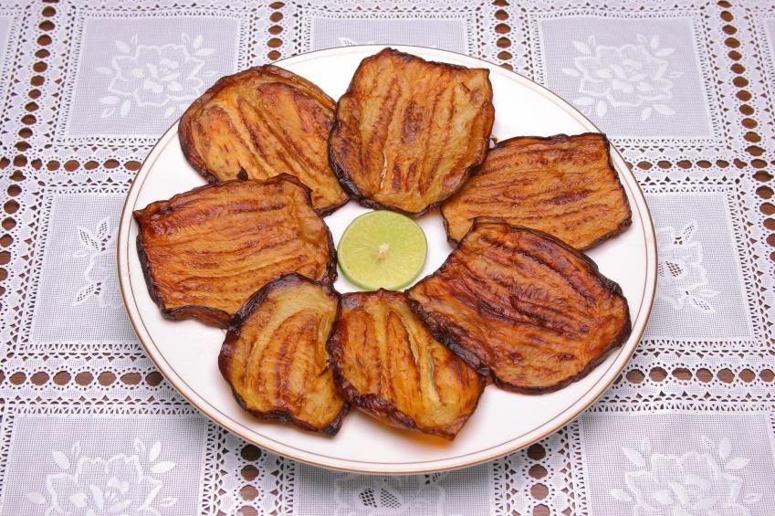 Fried eggplant photo 2