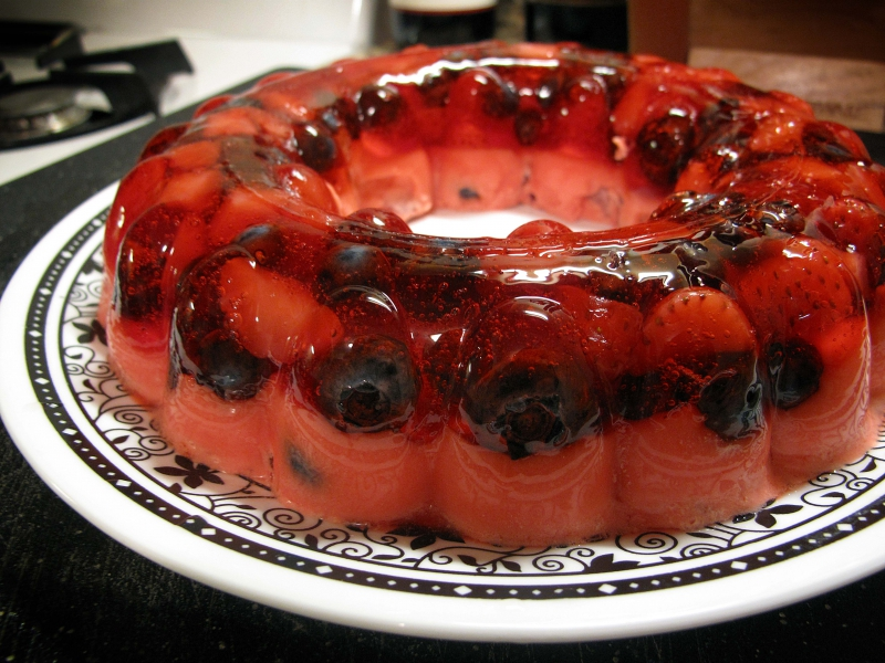 Fruit jello mold photo 1