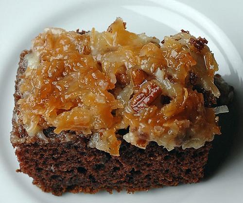 German chocolate upside-down cake photo 5