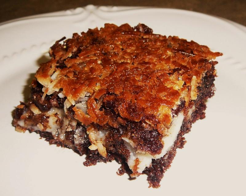 German chocolate upside-down cake photo 3
