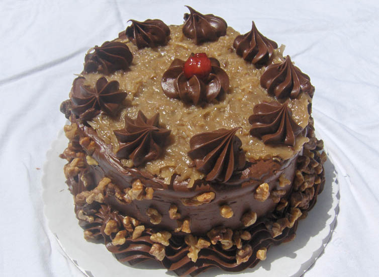 German chocolate upside-down cake photo 4