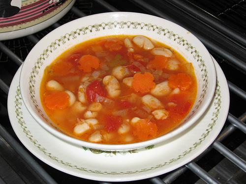 Greek bean soup photo 1