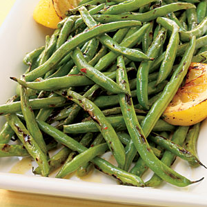 Green beans on the grill photo 3