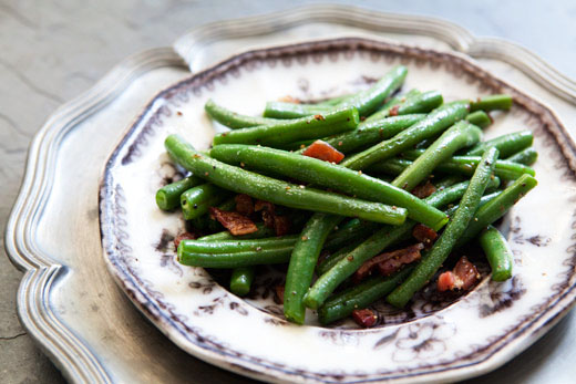 Green beans with bacon photo 2