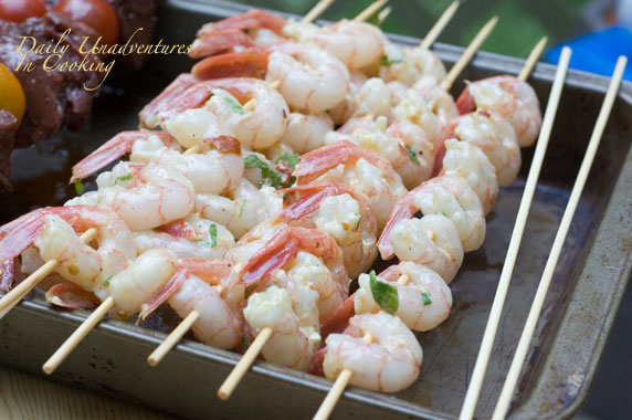 Grilled garlic shrimp photo 3