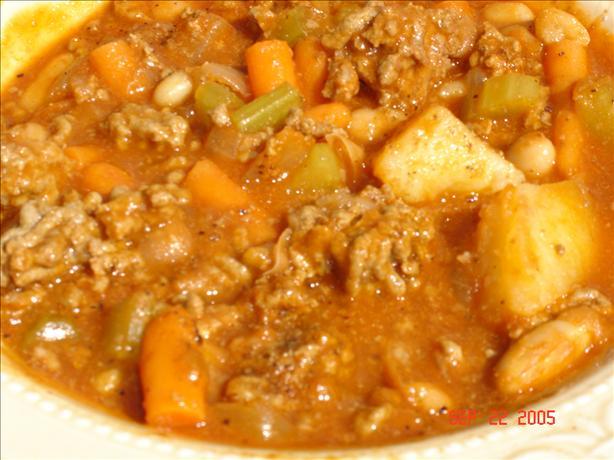 Hamburger vegetable soup photo 3