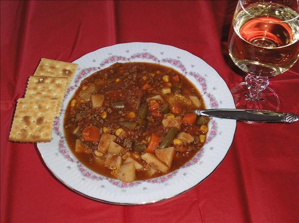 Hamburger vegetable soup photo 2