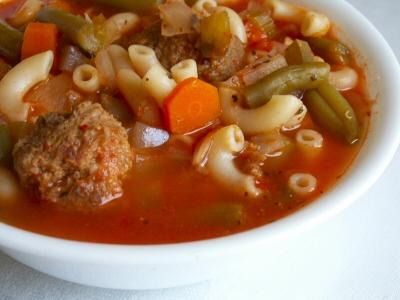 Italian meatball soup photo 1
