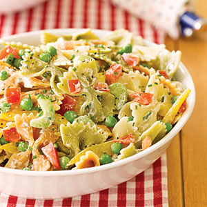 Layered garden pasta salad photo 1