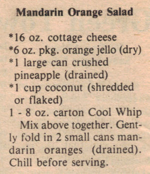 Mandarin salad photo 1