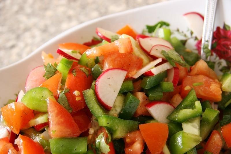 Marinated fresh vegetable salad photo 1