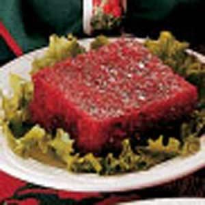Molded cranberry fruit salad photo 1