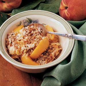 Nutty peach crisp photo 1