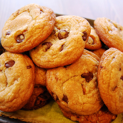 Orange chocolate chip cookies photo 1