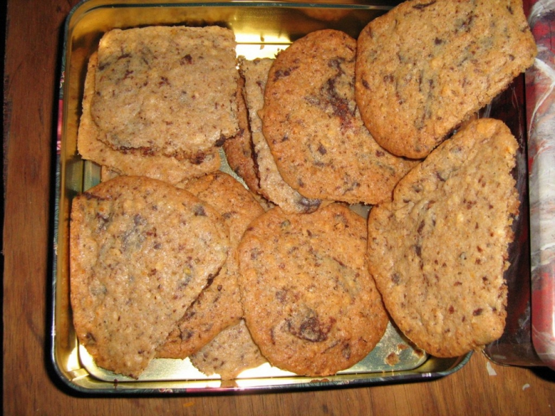 Orange chocolate chip cookies photo 2