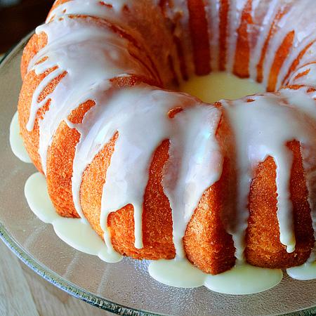 Orange jello cake photo 2