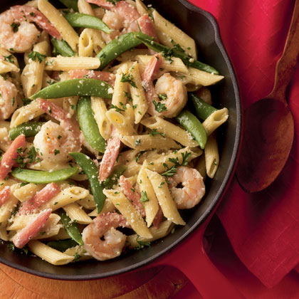 Pasta primavera with shrimp photo 2